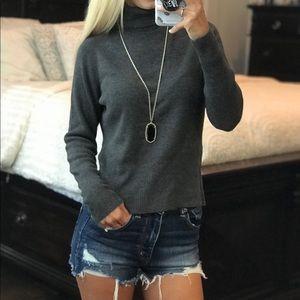 LOFT Grey Turtleneck Sweater